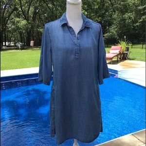 Cloth & Stone Chambray Dress Size S Anthropologie